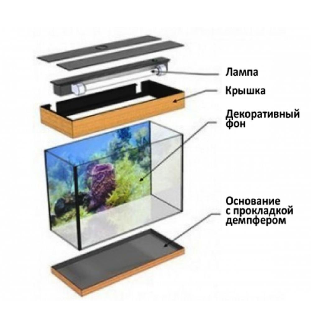 """Аквариум для черепах """"Aquarius"""" ( Палюдариум ) 60 л. - 1"""
