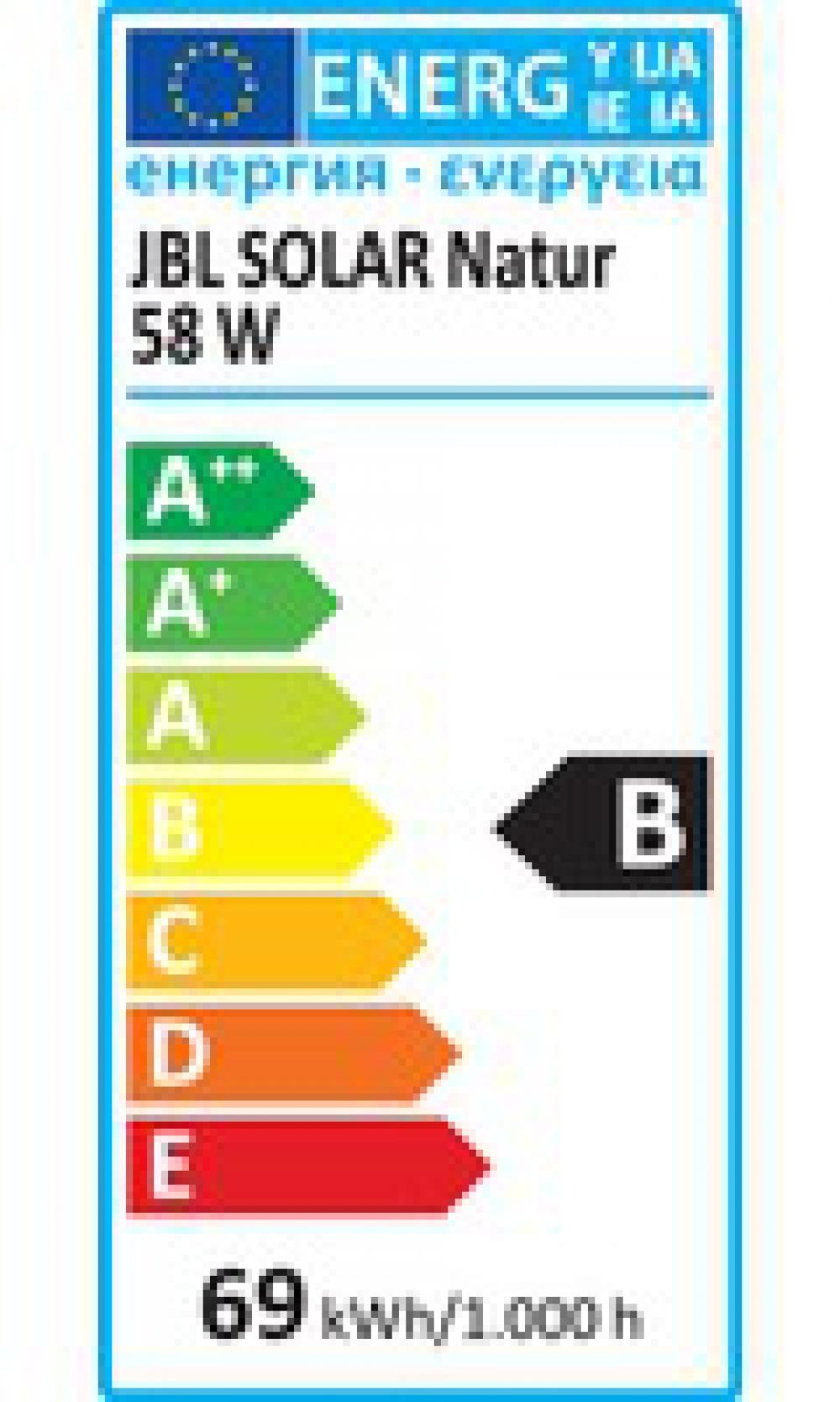 JBL SOLAR NATUR 58 Вт, 1500 мм. Лампа полного спектра для пресноводных аквариумов - 2