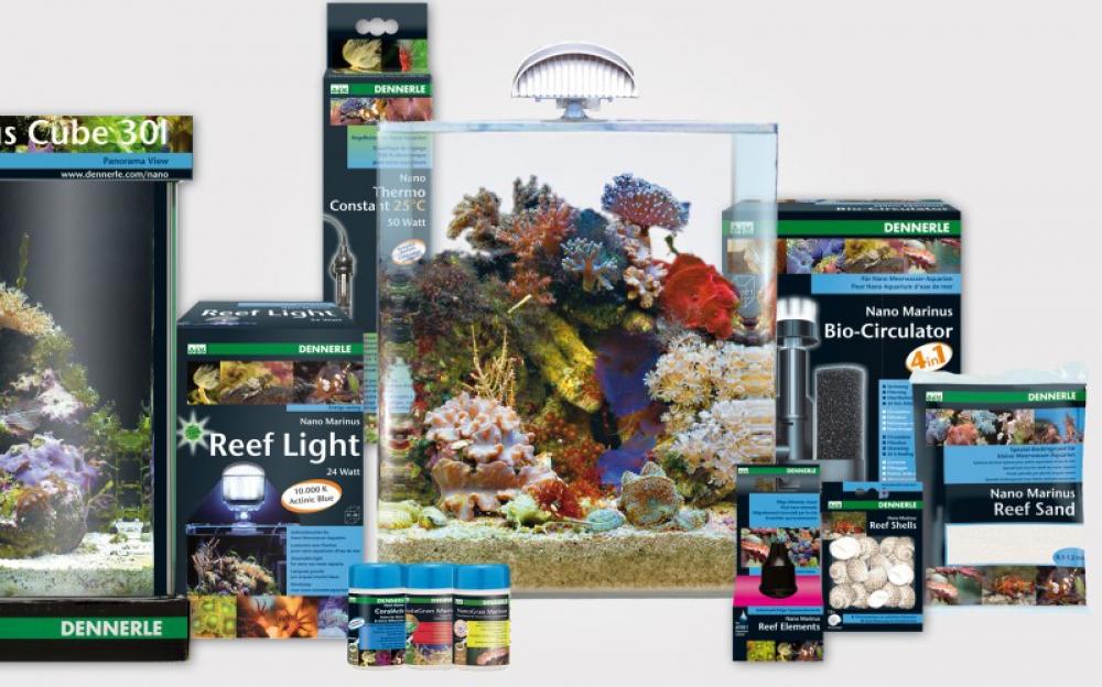 Аквариум Dennerle Nano Marinus Cube Complete PLUS 30 литров Полный Морской комплект Плюс - 1