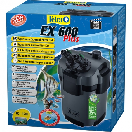 Фильтр внешний Tetra EX-600 Plus (для аквариумов от 60 до 120 л.)
