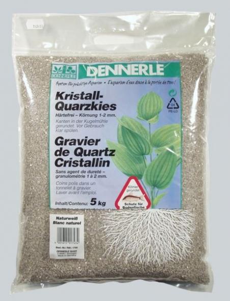 Аквариумный грунт Dennerle Kristall-Quarz 5 кг, цвет природный белый