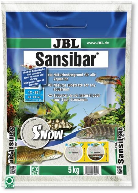 JBL Sansibar SNOW, 5 кг - Грунт для аквариума, снежно-белый