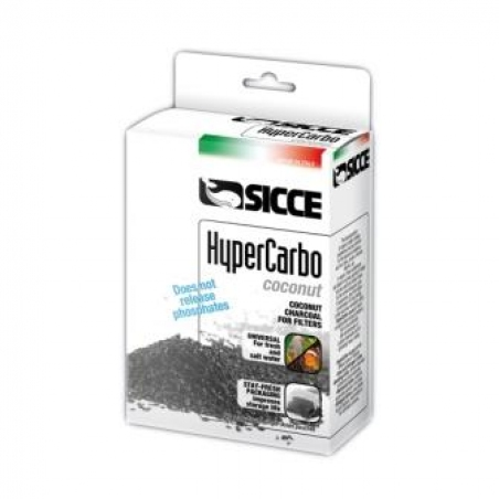 Наполнитель для фильтра SICCE Hypercarbo Cocco, кокосовый уголь, 2x150 гр