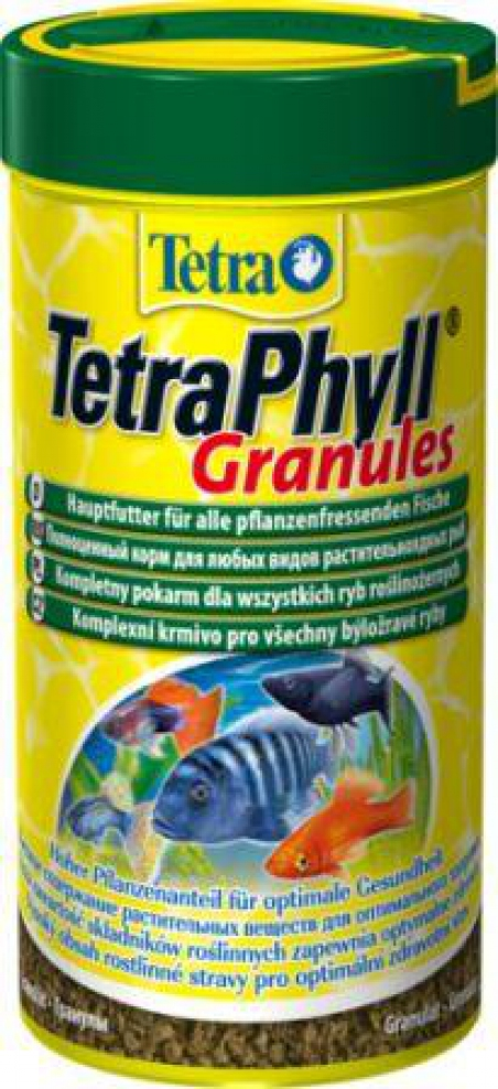 Гранулированный корм для всех травоядных рыб TetraPhyll Granules 250 мл
