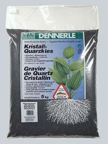 Аквариумный грунт Dennerle Kristall-Quarz 10 кг, цвет черный