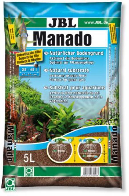 JBL Manado 5 L. Натуральный питательный грунт, фильтрующий и способствующий развитию растений