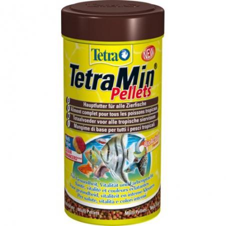 Корм с высокоэффективными усилителями цвета для всех видов тропических рыб TetraMin Pellets 250 мл