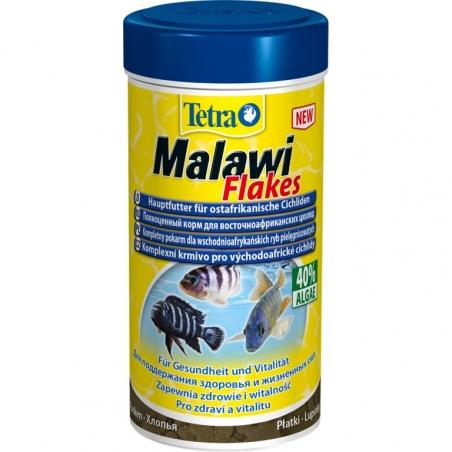 Корм в виде хлопьев для растительноядных цихлид Tetra Malawi Flakes 100 мл