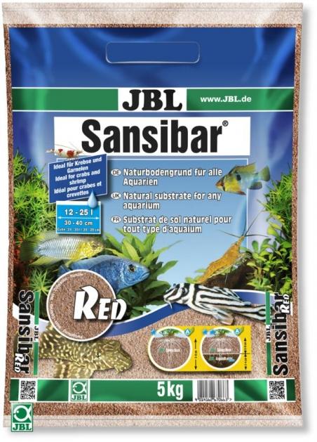 JBL Sansibar RED, 5 кг - Грунт для аквариума, натурально-красный