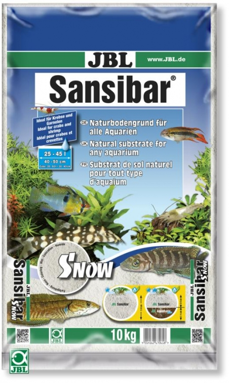 JBL Sansibar SNOW, 10 кг - Грунт для аквариума, снежно-белый