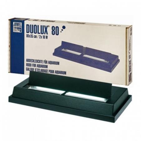 Крышка светильник JUWEL Duolux 80, черная, 80х35 см, 2x18W T8