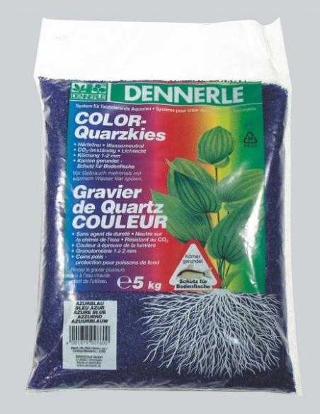 Цветной аквариумный грунт Dennerle Color-Quarz 5 кг, цвет лазурно-синий