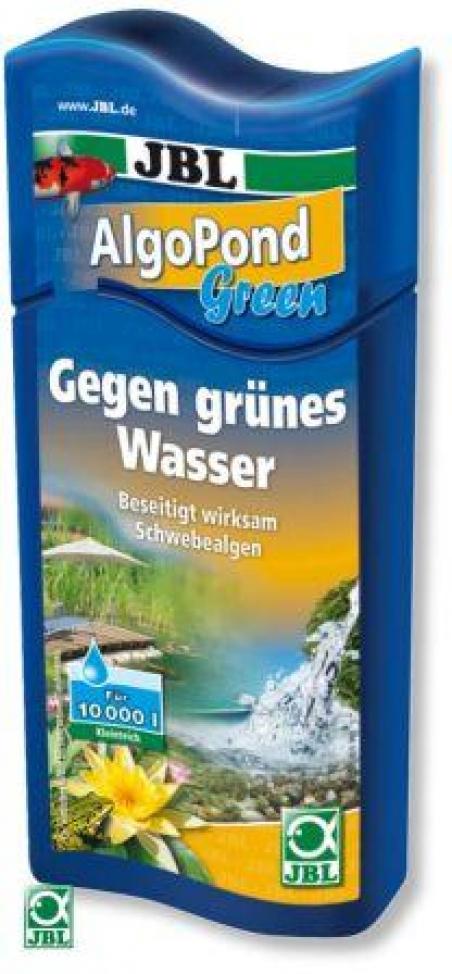 JBL AlgoPond Green 250 мл - Средство для устранения одноклеточных водорослей в пруду  (эффект цветения воды)