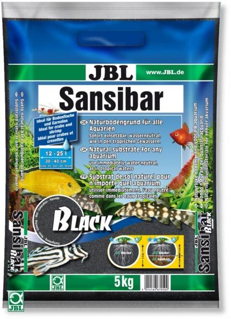 JBL Sansibar Black, 5 кг - Грунт для аквариума, черный