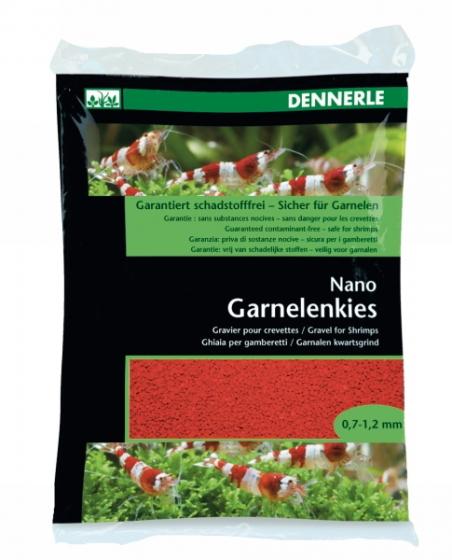Аквариумный грунт Dennerle Nano Garnelenkies Indian red 2кг