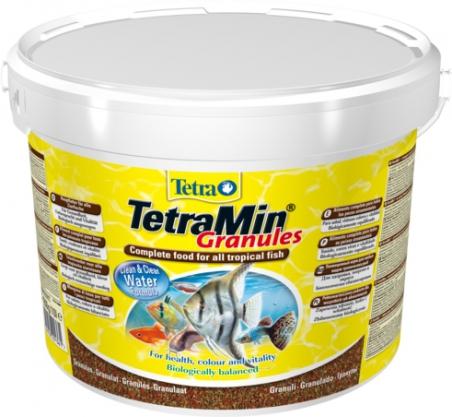 Гранулированный корм для всех видов тропических рыб TetraMin Granules 10 л