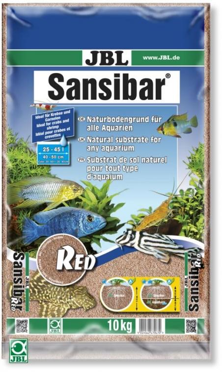 JBL Sansibar RED, 10 кг - Грунт для аквариума, натурально-красный