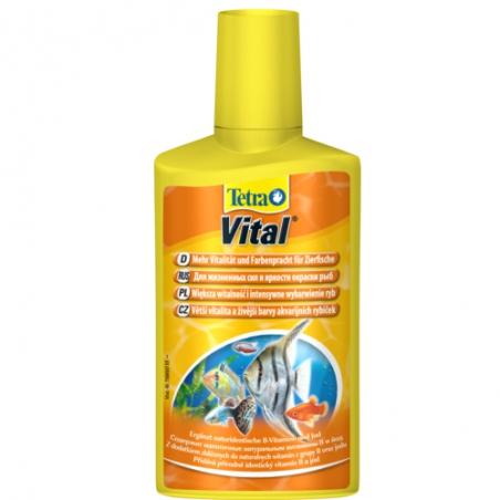 Обеспечивает рыбкам жизненную энергию и здоровье, а также естественный окрас Tetra Vital 100 мл (рассчитан на 200л)
