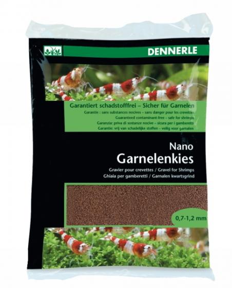 Аквариумный грунт Dennerle Nano Garnelenkies Borneo brown 2кг