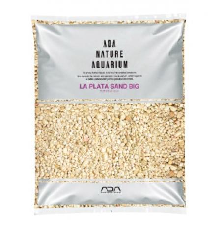 Грунт натуральный ADA La Plata Sand Big, 8 кг - декоративный песок крупной фракции