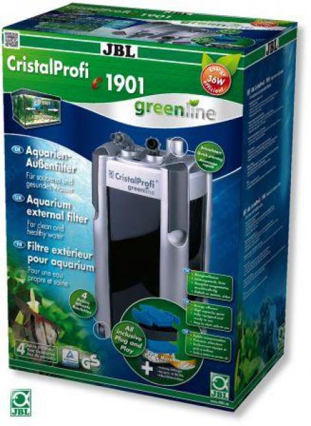 JBL CristalProfi e1901 greenline. Энергосберегающий внешний фильтр для аквариумов объемом 200-800 л