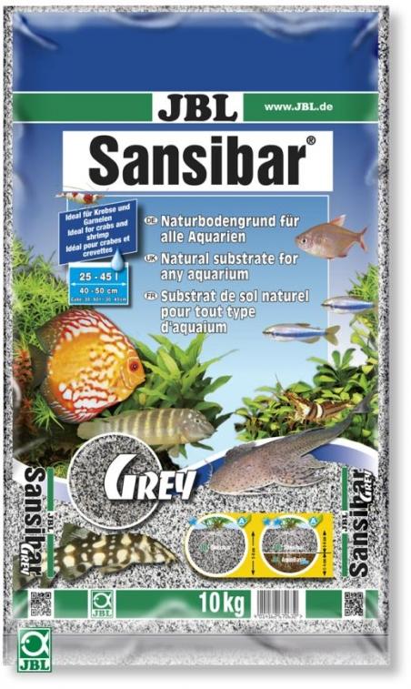 JBL Sansibar GREY, 10 кг - Грунт для аквариума, серый