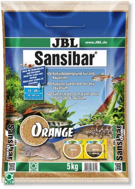 JBL Sansibar ORANGE, 5 кг - Грунт для аквариума, натурально-оранжевый