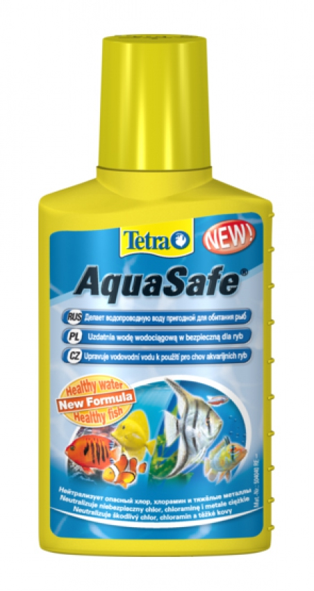Средство для преобразования водопроводной воды Tetra AquaSafe 250 мл (рассчитан на 500л)
