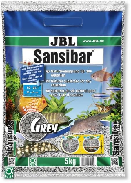JBL Sansibar GREY, 5 кг - Грунт для аквариума, серый