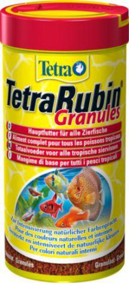 Гранулированный корм для усиления окраски рыб TetraRubin Granules 250 мл