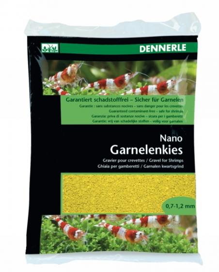 Аквариумный грунт Dennerle Nano Garnelenkies Panama yellow 2кг