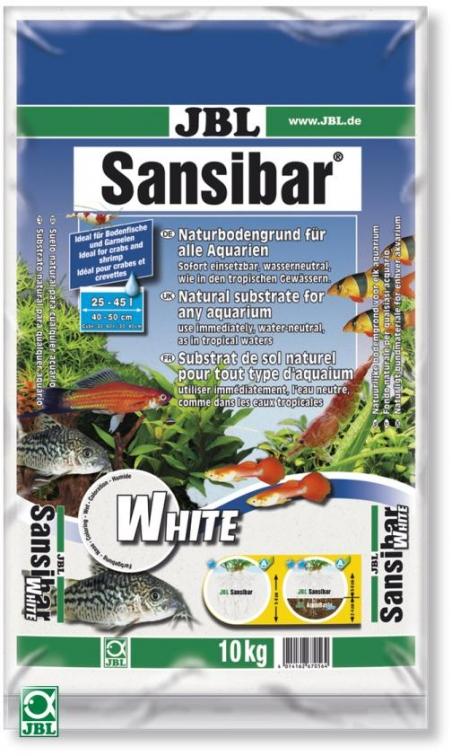 JBL Sansibar White, 10 кг - Грунт для аквариума, белый