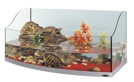 Палюдариум панорамный FERPLAST Jamaica 110 SCENIC для черепах, серебристый