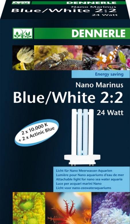 Лампа Dennerle NANO Marinus Blue/White 2:2 24Вт