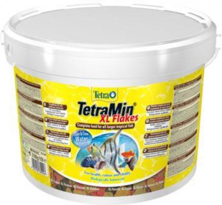 Корм для любых видов тропических рыб TetraMin XL Flakes 10 л