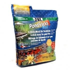 JBL Pond Sticks 4in1 10,5л - Комплексный корм для всех видов прудовых рыб в виде палочек различного цвета