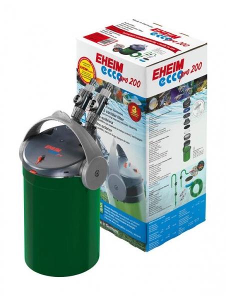 Фильтр внешний EHEIM ECCOPRO 200 -  для аквариумов от 100 до 200 л, производительность 600 л/ч. Фильтр полностью укомплектован фильтрующими материалами.