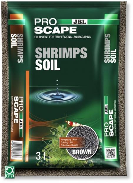 JBL ProScape ShrimpsSoil BROWN, 3 л - Питательный грунт для аквариумов с креветками