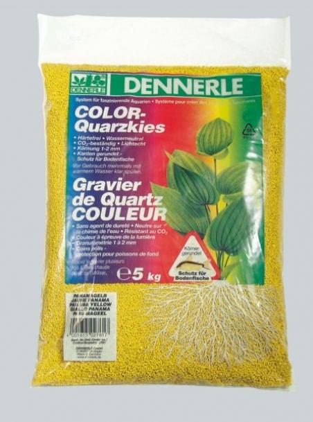 Цветной аквариумный грунт Dennerle Color-Quarz 5 кг, цвет желтый
