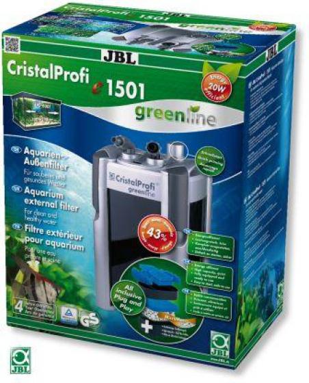 JBL CristalProfi e1501 greenline. Экономичный внешний фильтр для аквариума 200–700 л