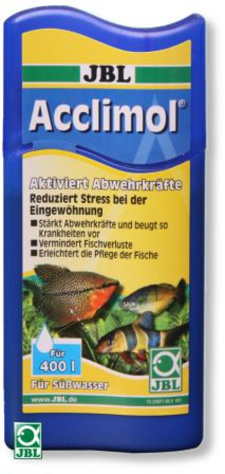 JBL Acclimol - Препарат для защиты рыб при акклиматизации, 100 мл на 400 л