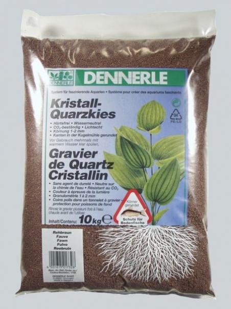 Аквариумный грунт Dennerle Kristall-Quarz 10 кг, цвет темно-коричневый