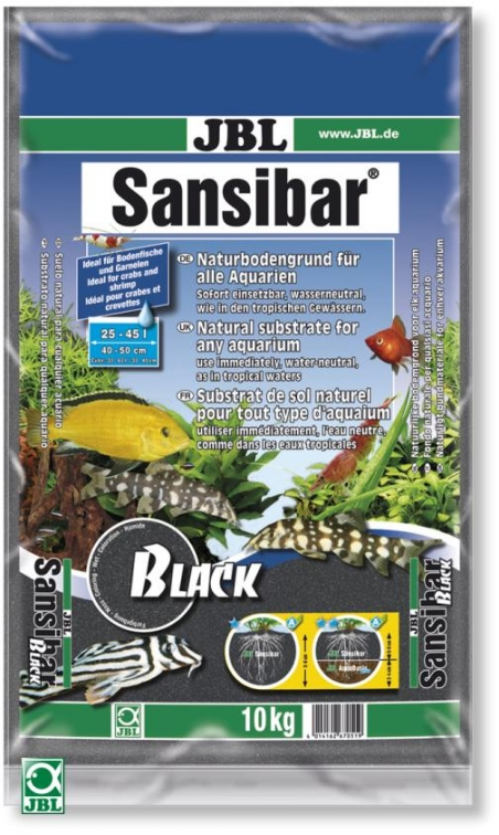 JBL Sansibar Black, 10 кг - Грунт для аквариума, черный