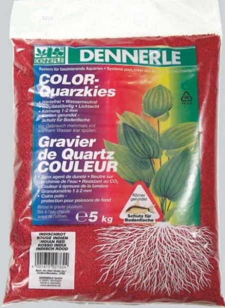 Цветной аквариумный грунт Dennerle Color-Quarz 5 кг, цвет красный