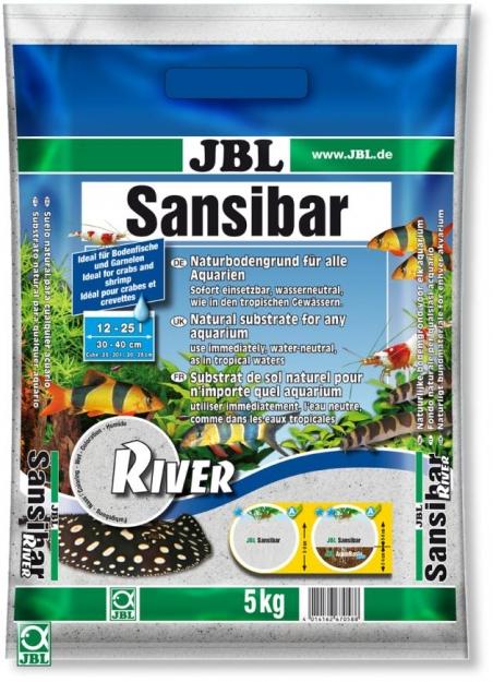JBL Sansibar River, 5 кг - Грунт для аквариума, белый с черными камушками