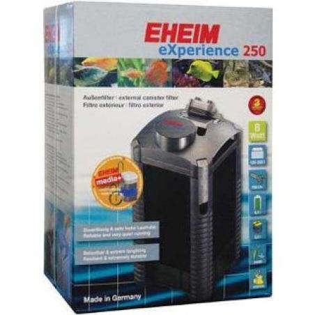 Фильтр внешний EHEIM EXPERIENCE 250 -  для аквариумов от 120 до 250 л, производительность 700 л/ч. Фильтр полностью укомплектован фильтрующими материалами.
