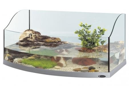 Палюдариум панорамный FERPLAST Jamaica 80 SCENIC для черепах, серебристый