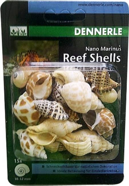 Раковины улиток Dennerle Nano Marinus ReefShell 15 шт