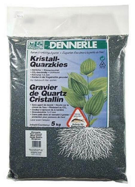 Аквариумный грунт Dennerle Kristall-Quarz 5 кг, темно-зеленый (цвет мха)