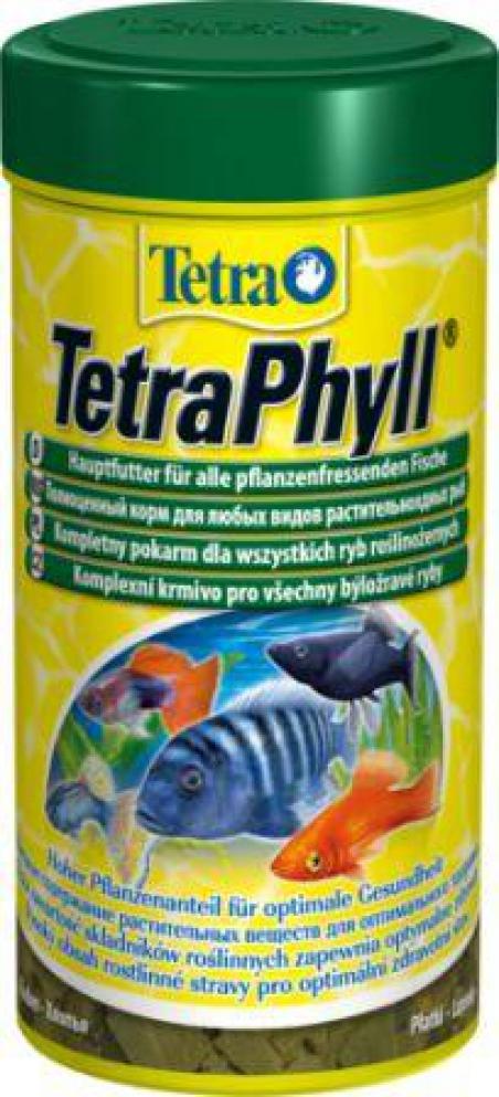 Корм для всех травоядных рыб TetraPhyll 250 мл